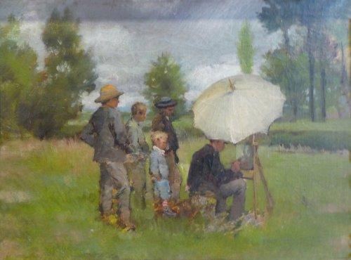 Lothar von Seebach, Le peintre en plein air, 1853-1930.