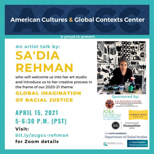An Artist Talk by Sa'dia Rehman