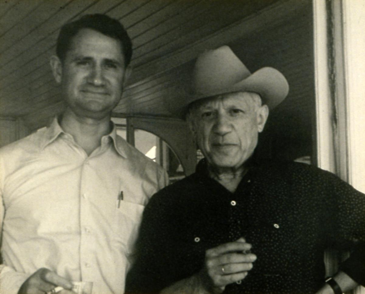 photograph of Channning Peake and Pablo Picasso together