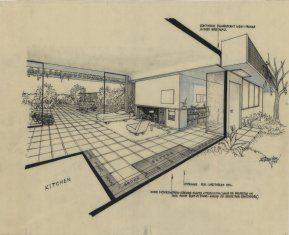 architecture design drawing.  Architecture JR Davidson Case Study House 1 Los Angeles Calif 1945 With Architecture Design Drawing