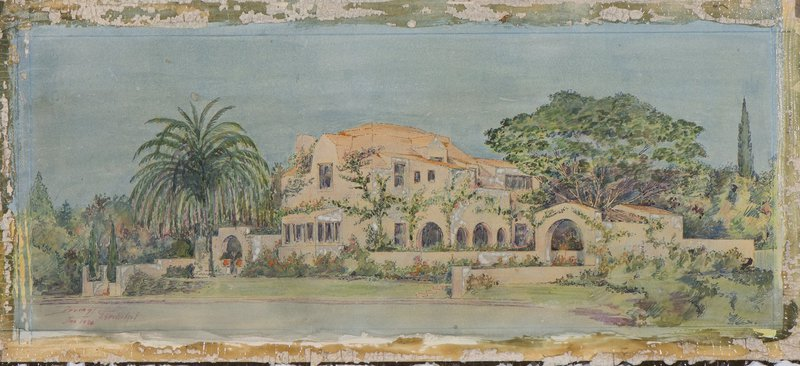 Irving Gill, unidentified house, circa 1930