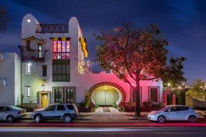 El Zapato facade. Architect Jeff Shelton. Photographer Alex Nye.